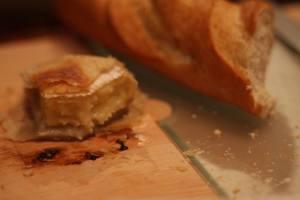Baked Brie: Brie, Jam, Filo Dough
