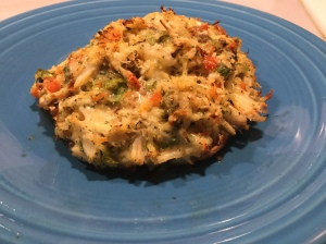Healthy Crab Stuffed Portobello: Portobello Mushroom caps, Jumbo Lump Crabmeat, Scallions, Red Capsicum, Garlic, Parmesan Cheese, Dill