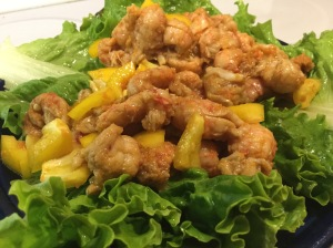 Lobster Lettuce Boats with Thai Peanut Dressing: Lobster, Large Leaf Lettuce, Carrot, Capsicum, Thai Peanut Dressing